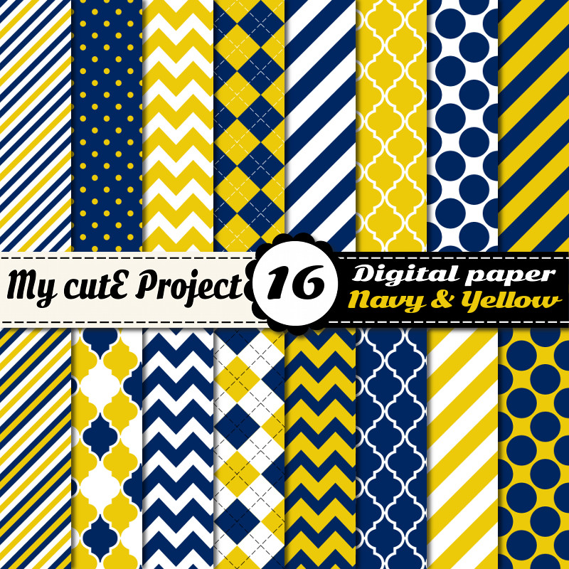 my cute project digital paper graphisme