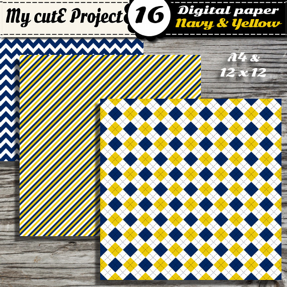 digital paper navy blue my cute project illustration
