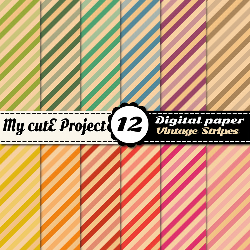 digital paper stripes design graphique