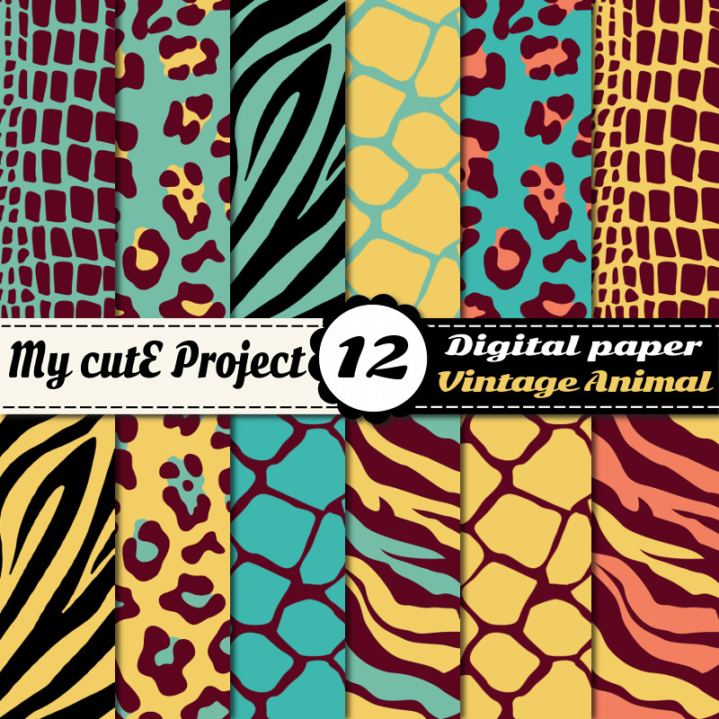 wild animal print graphic design avignon