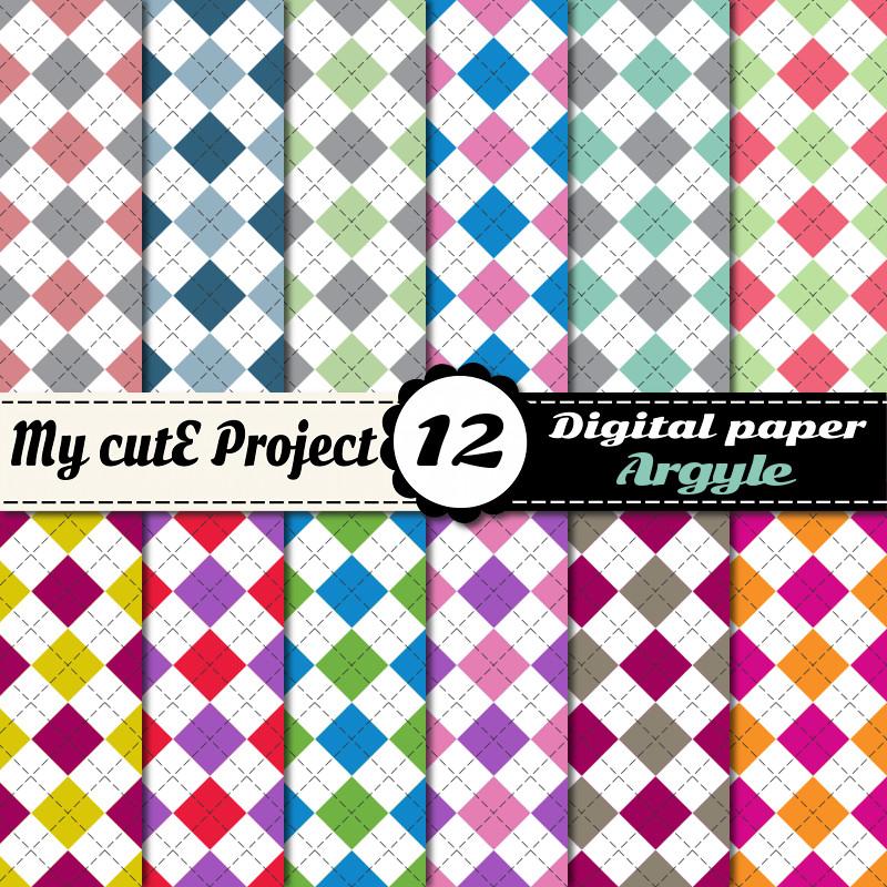 papier digital jacquard arlequin design graphique