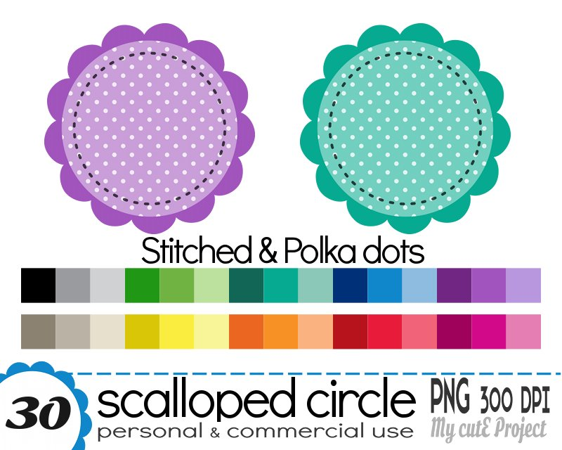 circle scalloped clipart graphisme avignon