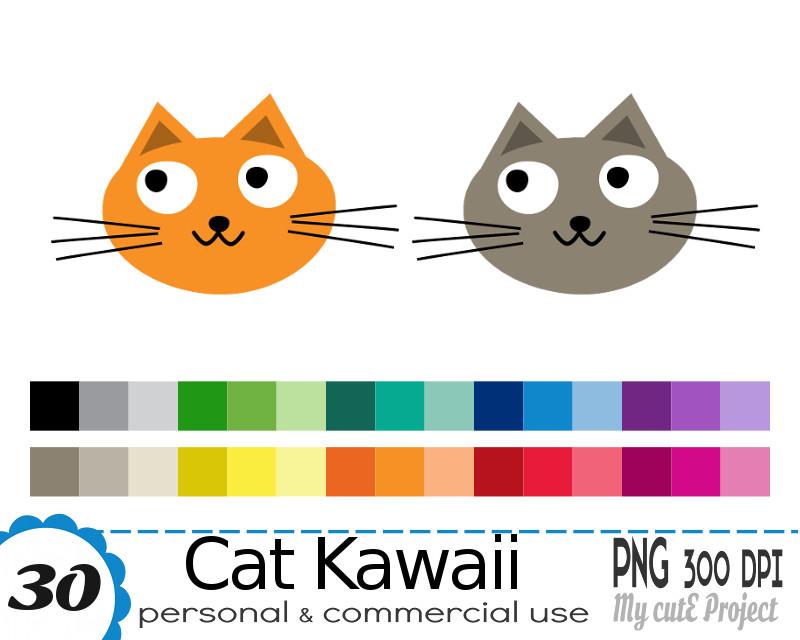 cat kawaii clipart illustration avignon